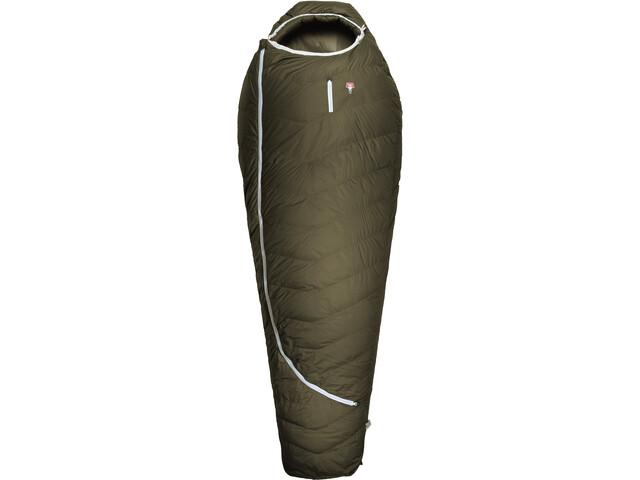 Grüezi-Bag Biopod DownWool Ice CompostAble Slaapzak, olijf